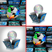 Set of 4 images — Stock Photo