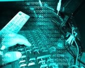 Keyboard and binary code 24.06.13 — Stock Photo
