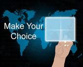 Dokonaj wyboru 09.07.13 — Zdjęcie stockowe