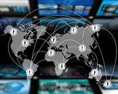 Conexão do mundo — Foto Stock