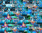 Background of the plurality of images — Stock Photo