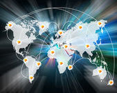 Connection of the world — Stock Photo