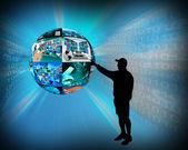 Internet sphere — Stock Photo