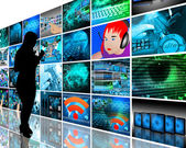 Wall high-tech — Stock Photo
