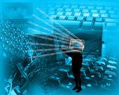 Silhouette monitor — Foto de Stock