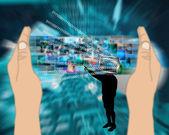 Silhouette monitor — Stockfoto
