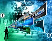Pensamientos de alta tecnología — Foto de Stock