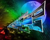 Gedanken der hochtechnologie — Stockfoto