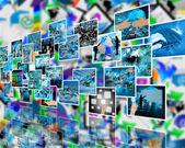 Wall high-tech — Stock Photo