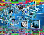 Hightech-Mauer — Stockfoto