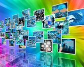 Parede alta tecnologia — Fotografia Stock