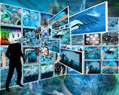 Vrolijke computer — Stockfoto