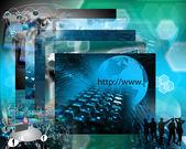 Världen av internet — Stockfoto