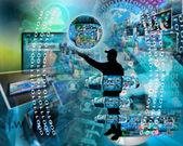 Internet und menschlichkeit — Stockfoto