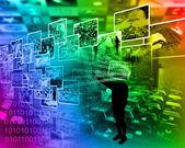 Mundo da internet — Fotografia Stock