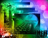 Mundo de internet — Foto de Stock