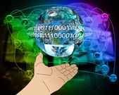 Hand of Internet — Stock Photo