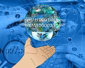 Mano de internet — Foto de Stock