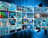 Internet-gränssnittet — Stockfoto