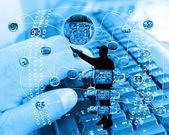 Internet y la humanidad — Foto de Stock