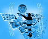 Internet e humanidade — Fotografia Stock