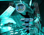 Internet i ludzkości — Zdjęcie stockowe