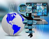 Internet a lidstvo — Stock fotografie