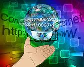Hand des internet — Stockfoto