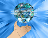 Hand of Internet — Stock Photo