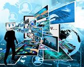 Fröhlich computer — Stockfoto
