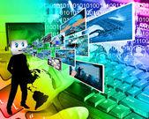 Cheerful computer — Stock Photo