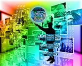 Internet ve insanlık — Stok fotoğraf
