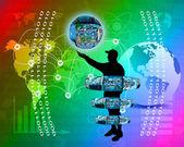 Internet en de mensheid — Stockfoto