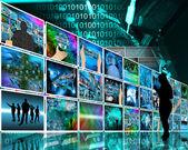 Internet stěna — Stock fotografie