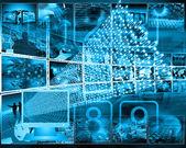 Monitor and binary code — Stock Photo