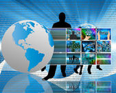 The world and the Internet — Stock Photo