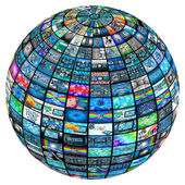 Sphere of images — Stock Photo