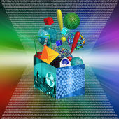 Internet box — Stock fotografie