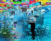 Background of binary code  — Photo