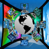 The world and computers — Stock Photo