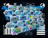 Internet cep arayüzü — Stok fotoğraf