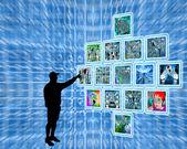 La gente y alta tecnología — Foto de Stock
