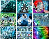 Nine images — Stock Photo