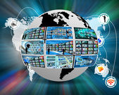 Internet environment of the Earth — Stock Photo