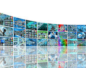 Wall with pictures — Stock Photo