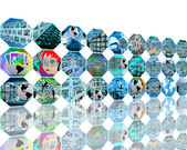 Wall of octagons — Stock Photo