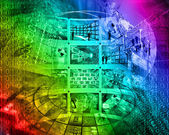 抽象的なハイテク — ストック写真