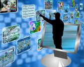 Multimedia stream — Stockfoto