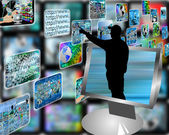 Multimedia stream — Stock Photo