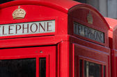 Traditional Red Telephone Box — Foto de Stock
